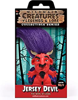"WILD HAIR CREATIONS' Jersey Devil, AKA The Devil of Leeds, from The Creatures of Legends and Lore, 5.5"" Collectible Vinyl Toy/Novelty Figure with Troll Hair and Colorful Packaging/Creature Fun Facts."