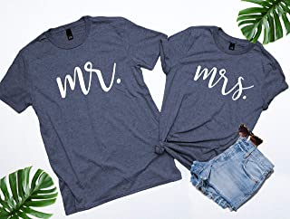 Mr and Mrs, Mr and Mrs shirts, Honeymoon Shirts, Mrs and Mr, Mr and Mrs Shirts, Newlywed Shirts, Just Married, Wedding Shirts. NEW