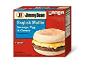 Jimmy Dean, Muffin Sandwiches, Sausage, Egg & Cheese, Meal Size, 4 Count (Frozen)
