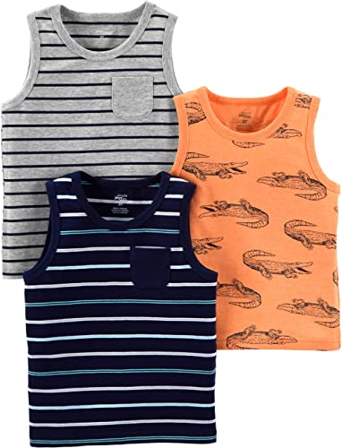 Simple Joys by Carter's Camiseta sin Mangas Niños, Pack de 3