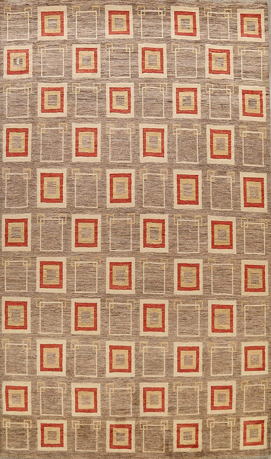 Brown Geometric sale Gabbeh Oriental Area Rug Livin Popular products Hand-Knotted Wool