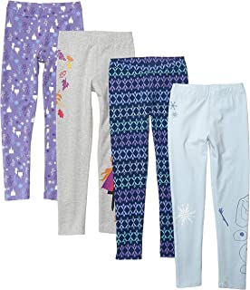 Spotted Zebra Amazon Brand Girl's Disney 4-Pack Leggings