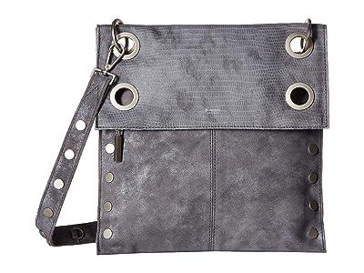 Hammitt Montana Rev Large (Slate Tejus/Slate Buffed/Slate Lust/Slate Snake/Brushed Silver) Cross Body Handbags