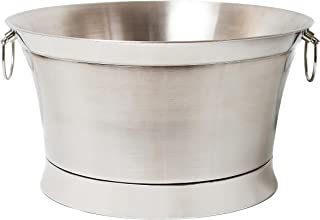 BirdRock Home Double Wall Round Beverage Tub - Stainless Steel - Large