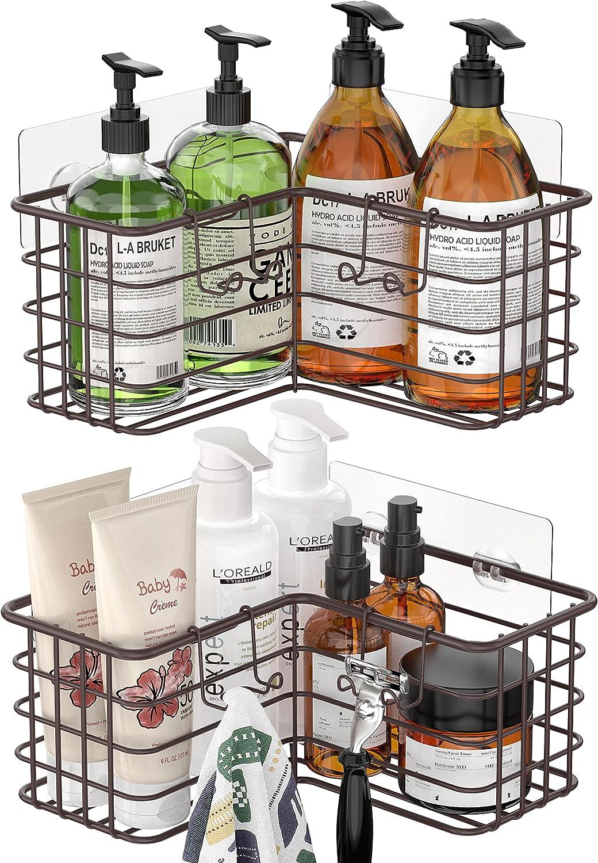 SMARTAKE 2-Pack Corner Shower Caddy Design Cheap SALE Start Sales results No. 1 Adhesive Basket Deep