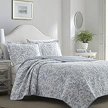 Laura Ashley Amberley Spa Blue Quilt Set, King