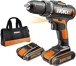 Worx WX170 - Taladro Atornillador 20V 1.5Ah 2bat