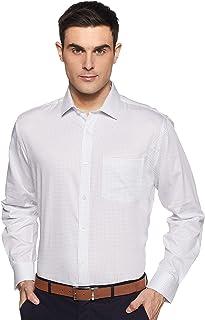 Amazon Brand - Arthur Harvey Men's Printed Regular Fit Full Sleeve Cotton Formal Shirt