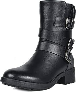 Best black biker boots Reviews