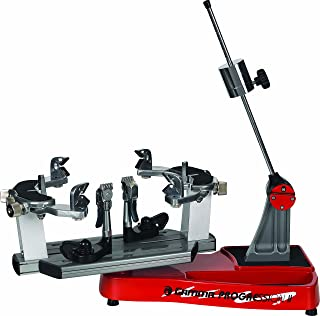 Gamma Progression II 602 FC: 360 Degree Rotation Tabletop Racquet Stringer Machines with Stringing Accessories / Racket String Tools - Machine Strings Racquetball, Squash, Tennis or Badminton Rackets