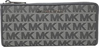 Michael Kors Jet Set Large Three Quarter Zip Around Monogram Wallet