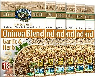 Lundberg Organic White Rice & Quinoa Entree, Garlic & Herb, 5.5oz (6Count), Gluten-Free, Vegan, Usda Certified Organic, No...