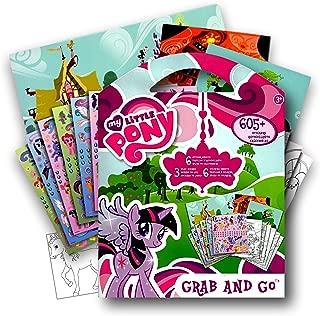 My Little Pony 605 Stickers Activity Coloring Book with Bonus Sticker ~ Twilight Sparkle, Rainbow Dash, Fluttershy, Pinkie Pie, Applejack, Rarity, Spike the Dragon, Princess Celestia & Princess Luna