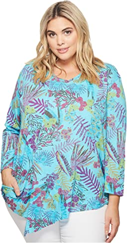 Extra Fresh by Fresh Produce - Plus Size Bright Botanical Ella Tunic