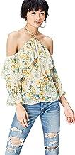 Marca Amazon - find. Blusa Estampada con Hombros al aire para Mujer