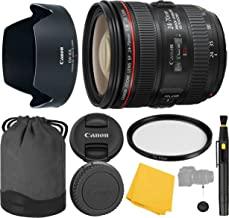 Canon EF 24-70mm f/4.0L IS USM Lens + UV Filter + Collapsible Rubber Lens Hood + Lens Cleaning Pen + Lens Cap Keeper + Cleaning Cloth - 24-70mm IS USM (L): International Version (No Warranty)