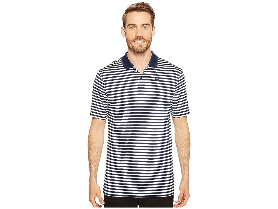 Nike Golf Dri-FITtm Mini-Stripe Victory Polo (College Navy/White/Black) Men
