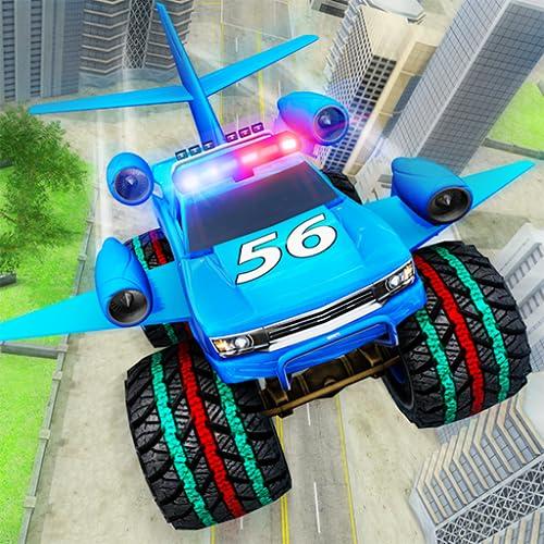 Flying Car Monster Truck Air Battle