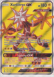 Pokemon, S&M5, Ultra Prism - Xurkitree 142/156, Ultra Rare, New, Mint