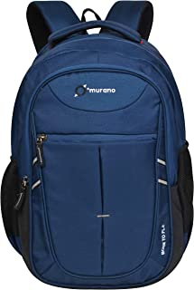 Murano Venus 28 LTR Laptop Backpack for 15.6 inch Laptop and Polyester Water Resistance Backpack - Navy Blue