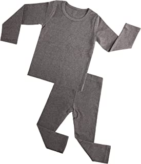 M/&A Toddler Baby Girls Boys 2 Piece Pajama Set Little Kids Pjs Long Johns Thermal Underwear
