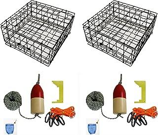 KUFA Vinyl Coated Crab Trap Accessory Kit (100' Lead Corerope, Clipper, Bait Case & 14
