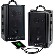 Dual Electronics LU48BTS Wireless Portable Bluetooth Speakers | TruWireless Stereo | 100ft...