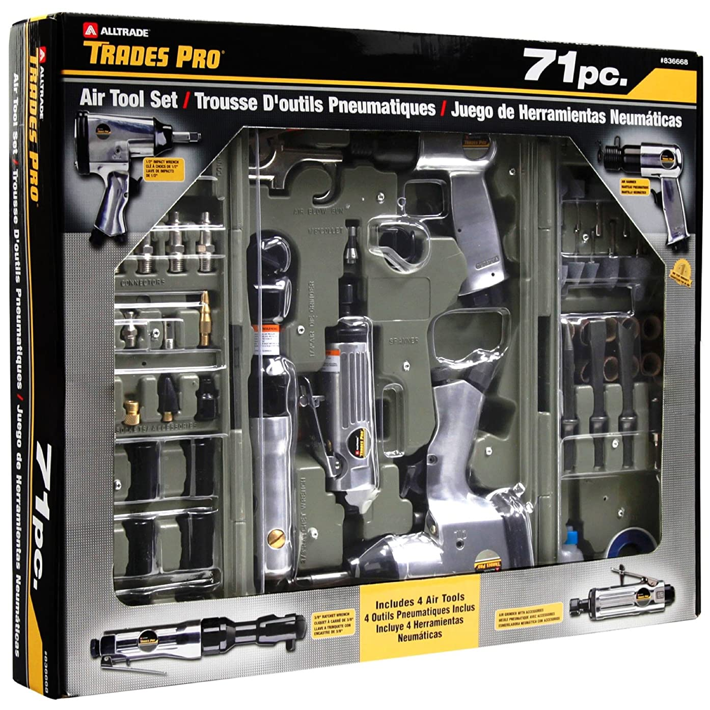Tradespro 836668 Air Tools and Accessories, 71-Piece