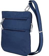 Travelon Anti-Theft Classic Slim Dbl Zip Crossbody Bag, Midnight