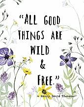 Wall Art Print by ArtDash ~ HENRY DAVID THOREAU quote w/ Wildflowers: