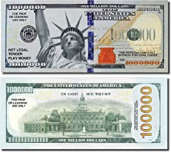 JUMBO Million Dollars, 25 Bills of Best Real Looking Play Money, Jumbo Size Real Rich Full Color, The #1 Play Money for Education, Props, Gifts & Fun