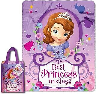 "Disney Sofia the First Princess Fleece Blanket Fleece Throw 46/""x60/"" New"