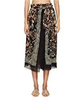 FUZZI - Wrap Skirt in Dragonessa Print