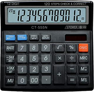 SaleOn™ Financial and Business Office Calculator with Large LCD Display (Assorted Color)