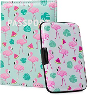 Miami CarryOn RFID Protected Wallet and Passport Cover Set - Prevent Identity Theft