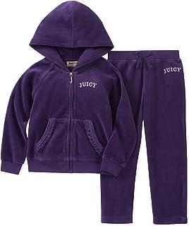 Juicy Couture Girls' 2 Pieces Jog Set-Velour