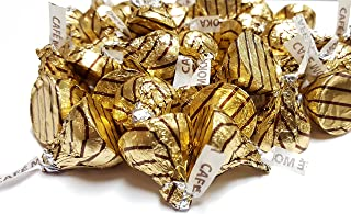 Hershey's Kisses 2 pounds Bulk Cafe Moka Espresso Gold / Brown Foiled Wrapping Approx. 200 Kisses