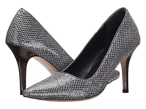 Womens Shoes Cole Haan Bradshaw Pump 85 Silver/Gunmetal Glitter/Dark Silver Metallic