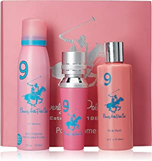 Beverly Hills Polo Club Gift Set 9 for Women (Eau De Toilette, Body Wash and Deodorant)
