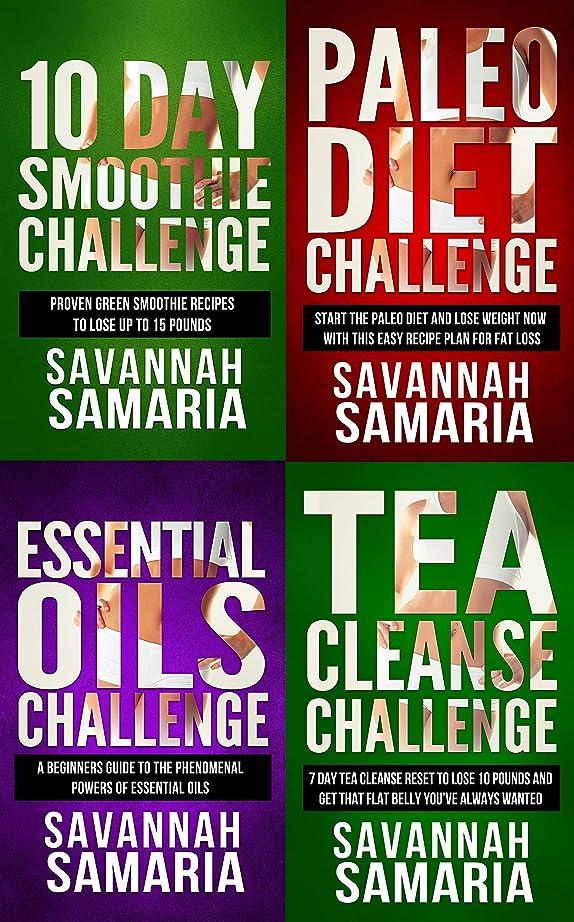 寝室を掃除する計算する貧しいSmoothies: 4 in 1 Box Set Challenge: Paleo Diet+Essential Oils+Smoothie Cleanse+Tea Cleanse (FREE Bonus - Health Book Box Set) (English Edition)