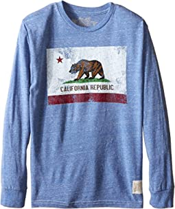 Long Sleeve Tri-Blend California Flag Tee (Big Kids)