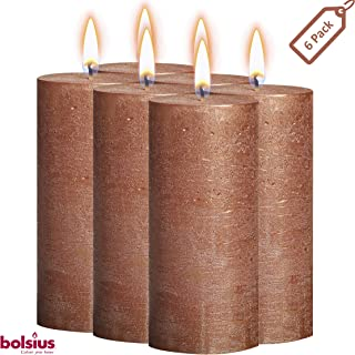 copper colored candles