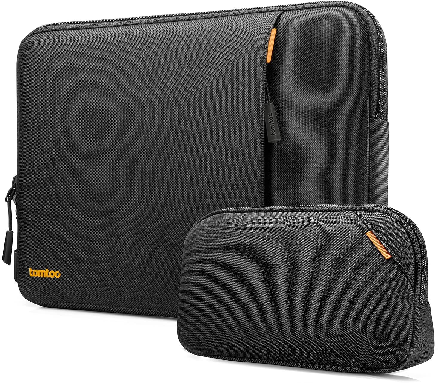 tomtoc Recycled Laptop Sleeve for 15-16 Inch MacBook Pro A2141 A1398, 15 Inch Surface Book 3/2, The New Razer Blade 15, ThinkPad X1 Extreme Gen 2, 360 Protective Notebook Case Bag with Accessory Pouch
