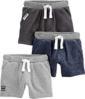 Baby and Toddler Boys' 3-Pack Knit Shorts