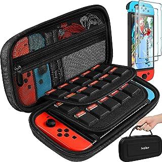 iVoler Funda de transporte para Nintendo Switch con 2 protectores de pantalla, funda rígida portátil , bolsa de viaje para...