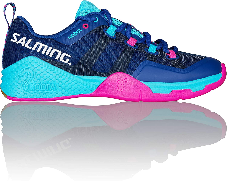 Salming Kobra 2 Limoges bluee Pink Jewel Women's Indoor Court shoes