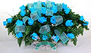 deco mesh headstone saddle