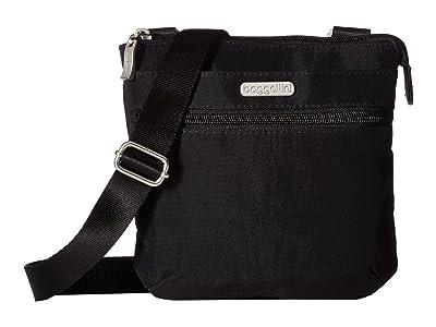 Baggallini Legacy RFID Small Zip Crossbody (Black/Sand) Cross Body Handbags