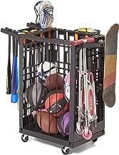 Lock & Roll Organizer Garage Storage System and Sports Equipment Organizer, Black