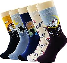 King.MI Calcetines de algod/ón de Dibujos Animados de Unicornio 3D Estilo Chicas ni/ños Lindos Calcetines